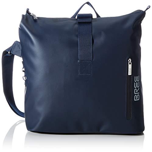 BREE Collection Unisex-Erwachsene Punch 722, Blue, Messenger S Umhängetasche Blau (Blue)