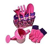 Child Gardening Tool Set <span class='highlight'>Kids</span> Toy Shovel Gardening Simulation <span class='highlight'>Sets</span> with Carrying Bag (Pink)