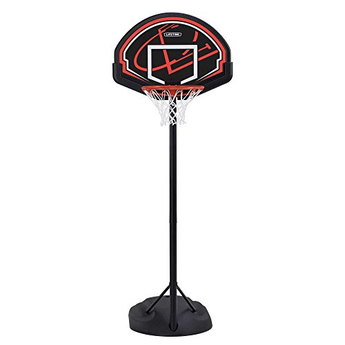 "Lifetime 90022 32"" Youth Portable Basketball Hoop, Red/Black"