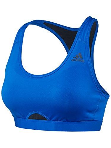 adidas Women's High Support Racerback Bra, Blue/Black, Small