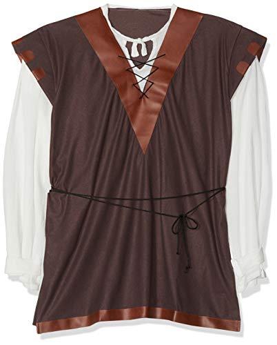 Elbenwald middeleeuwse tuniek met hemd natuur Large bruin