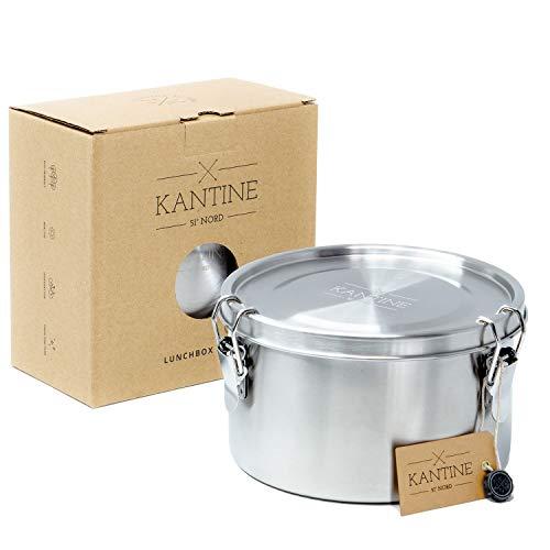 Kantine 51° Nord ® Lunchbox Tiffin | Auslaufsichere 1200ml Edelstahl Brotdose und Frischhaltedose