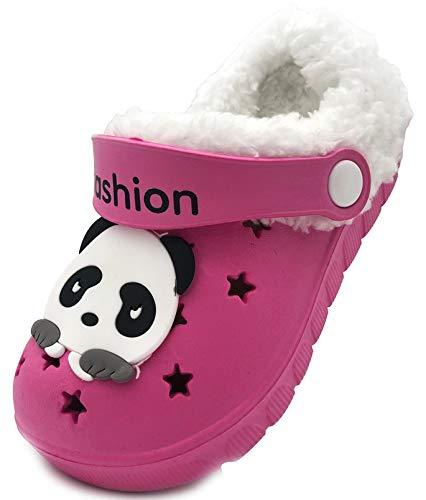 Vorgelen Niños Invierno Zuecos Pelusa Forro Pantuflas Zapatillas de Estar por Casa para Chico Niña Cálidas Zapatos de Jardín Chanclas Zapatilla