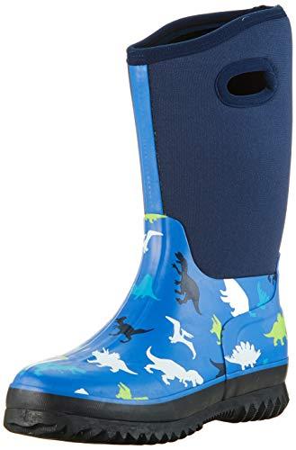 Hatley Jungen All Weather Boots Gummistiefel, Blau (Dino Herd 400), 22 EU