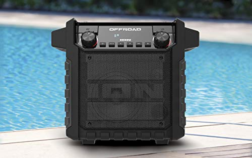 ION Audio Offroad 50 W Waterproof Outdoor Speaker with Long Lasting Rechargeable Battery, IPX4 Splash-Resistant Design…