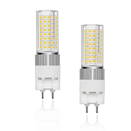 Bonlux Bombilla LED G12, 16 W, 220 V, 1600 lúmenes, cálida 3000 K, ángulo de haz de 360°, equivalente a lámpara halógena de 160 W, para garaje, carretera (2 unidades, no regulable)