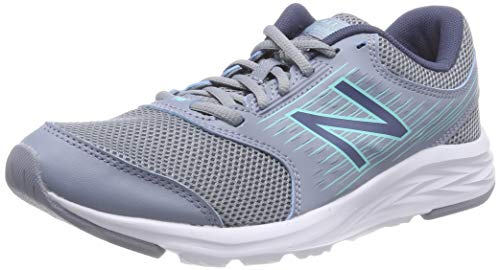 New Balance 411 Sneakers, Zapatillas de Correr Mujer, Gris (Reflection/Vintage Indigo), 36 EU