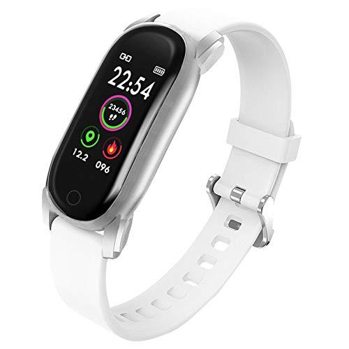 QAK YH6 Temperatura Smart Brazalet Watch Ladies Hombres Pulsera Inteligente Tracker Fitness para Android iOS Smartband Top Muñeca De Pulsera De Lujo,A