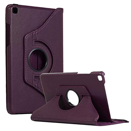 SM-T290 Rotating Case SM-T295 Cover, Galaxy Tab A 8.0 2019 Case, Coopts Slim Anti-Shock Shell 360 Degree Rotating Swivel Typing & Viewing Stand Cover for Samsung Galaxy Tab A8 T290 T295 2019, Purple