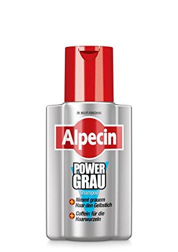Alpecin PowerGrau Shampoo, 1 x 200 ml - Nimmt grauem Haar den Gelbstich