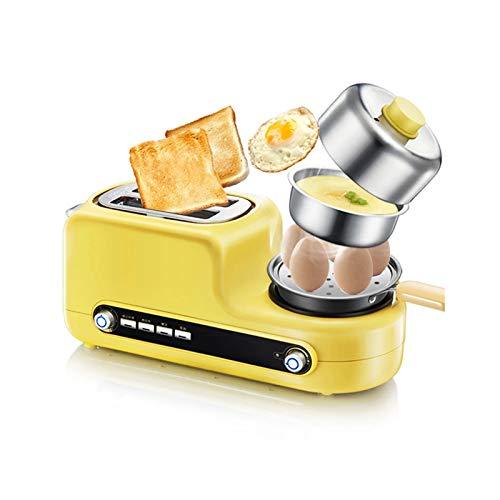 WZPG 5 en 1 Máquina de fabricación de Desayuno Multifuncional, tostadora doméstica, Pan para no palmado/Vapor de Comida/Tortilla Freying SART Pan/Huevo Caldera