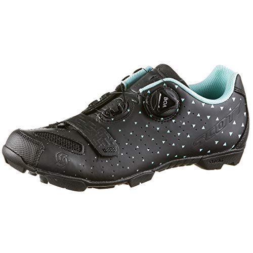 SCOTT 251838, Zapatillas MTB Comp Boa Lady MT BK/TU Azul 37.0 Unisex Adulto
