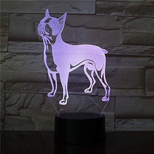 Sorpresa antes de Navidad luz 3D bulldog francés lindo animal perro decoloración mejor producto luz de noche led productos para bebés luz de noche