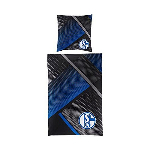 FC Schalke 04 Bettwäsche Grau Blau by FC Schalke 04