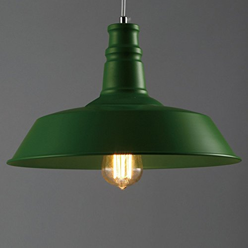 La Industria gruene lámpara colgante E27einflam mige 36cm diámetro alrededor iluminación de salón comedor dormitorio Estudio–Lámpara de techo