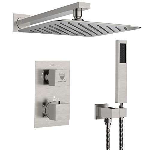 HIMK Shower System, High Pressure Rainfall Shower Head, Handheld Shower head and Shower Faucet...