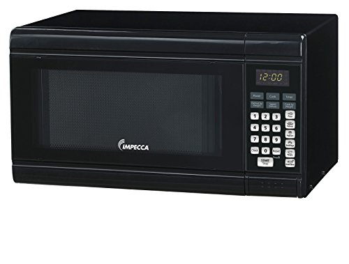 Impecca Countertop Microwave Oven with 10 Power Levels and Digital Display, 0.9 Cubic Feet, 900W Black