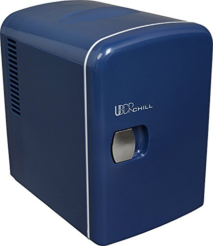 Uber Appliance UB-CH1-BLUE, Skin care, Beauty, Makeup, Cosmetics storage | Skincare Bedroom | portable mini fridge cooler and warmer, 9 x 7 x 10.5 inches