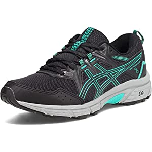ASICS Women's Gel-Venture 8 Running Shoes, 7, Black/Baltic Jewel