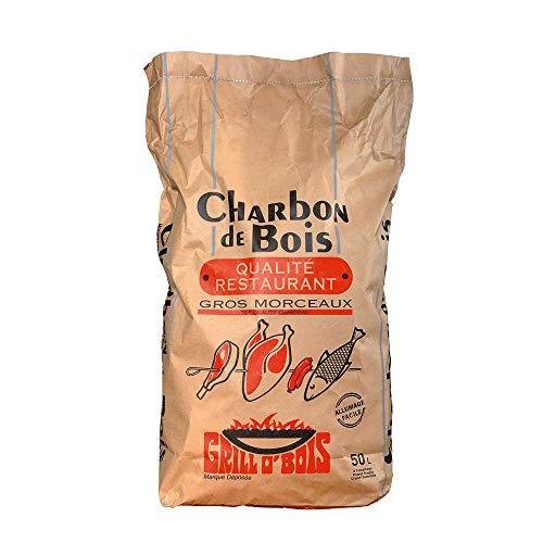 Grill O Bois 571 Charbon de bois qualité restaurant 50 L