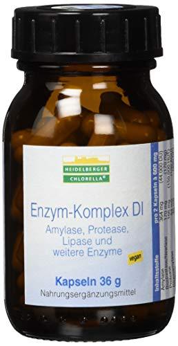 Heidelberger Chlorella – Enzym-Komplex DI Kapseln, vegan, aus Amylase, Protease, Lipase, hochdosiert, gute Bioverfügbarkeit, 36 g, 60 Kapseln