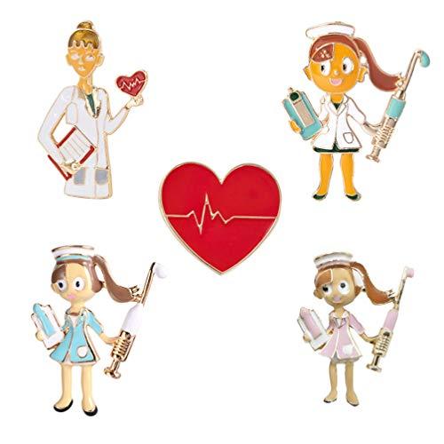 PRETYZOOM 5 Piezas Broche Corazón Rojo Alfiler Aleación Creativa 3D Dibujo Niñas Solapa Pin Corazón en Forma de Insignia Novedad Broche para Ropa DIY Bolsos Mochilas Decoración de Colores