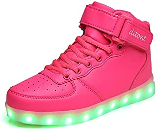 ditont Toddler Kids LED Light Up Shoes Flashing Sneakers for Boys Girls