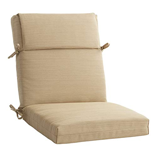 allen + roth 1 Piece Madera Linen Wheat Patio Chair Cushion