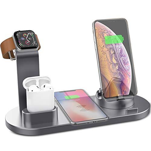 Yestan Wireless Charger 4 in 1 Wireless Charging Dock...