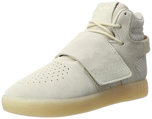 adidas Tubular Invader Strap, Zapatillas Altas Unisex Niños, Marrón (Clear Brown/Clear Brown/Chalk White), 39 1/3 EU