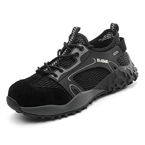 Zapatos de Seguridad con Punta de Acero para Hombre Mujer - Cómodos Ligeros y Transpirables...