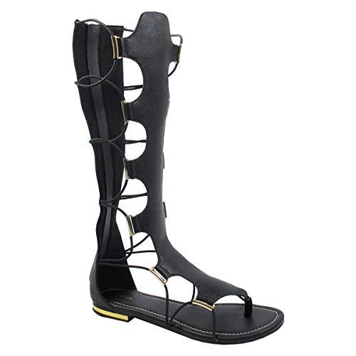 YOKI Women's Anya-50 Sport Sandal, Black, 11