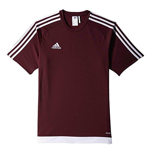 adidas Estro 15 JSY - Camiseta para hombre, color marrón / blanco, talla 152