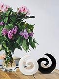 Stilvolles Skulpturenpaar aus Keramik – Moderne Deko in Schwarz & Weiß – Dekoration je 16cm hoch – auch gut als Geschenk geeignet - 5