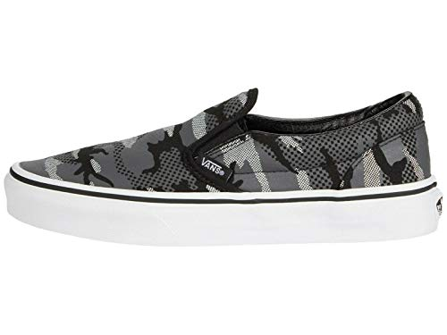 Vans Boys Pattern Camo Classic Slip-on Shoe Black White Little Kid (4-8 Years) Sneaker ((Pattern Como) Black/True White, Medium, Numeric_2_Point_5)