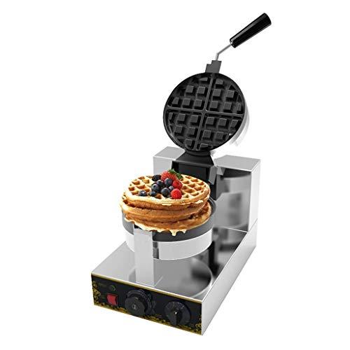 Home Waffeleisen Edelstahl Sandwich Toaster 180 Grad rotierend Belgien Professionelle Waffelmaschine Eismaschine