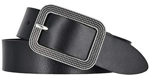 Bernd Götz Damen Gürtel Leder 30 mm Nappaleder kürzbar Damengürtel Jeansgürtel (105, Schwarz)