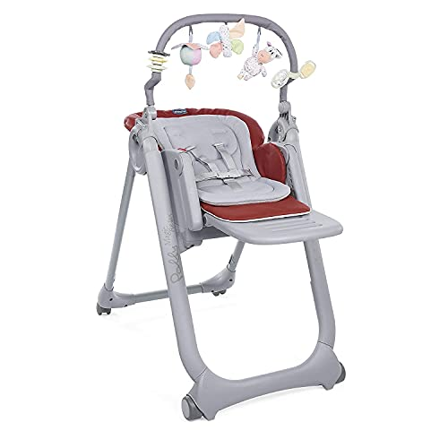 Chicco - Trona Polly Magic Relax Red Passion 1 unidad, Rojo