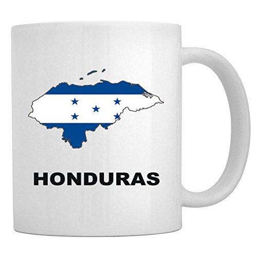 Teeburon Honduras Country Map Color Taza