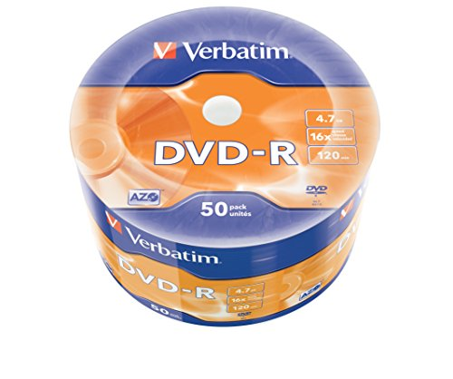 "Verbatim 43788"" Dvd-R 4,7GB 16x 50er Wrap Mandrino Argento"