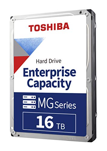 Toshiba 16TB MG Series Enterprise 3.5' SATA Internal Hard Drive. Mainstream server and storage, Hyperscale and cloud storage, 6 Gbit/s, 7200 RPM, 5Yr Warranty (MG08ACA16TE).