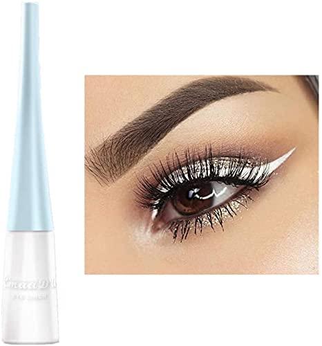 Liquid Eyeliner Matte Schnell trocknender Eyeliner, dauerhafter nicht blühender wasserdichter gelfarbener Eyeliner, Elf Candy Color Liquid Hochpigmentierter Eyeliner (Weiß)