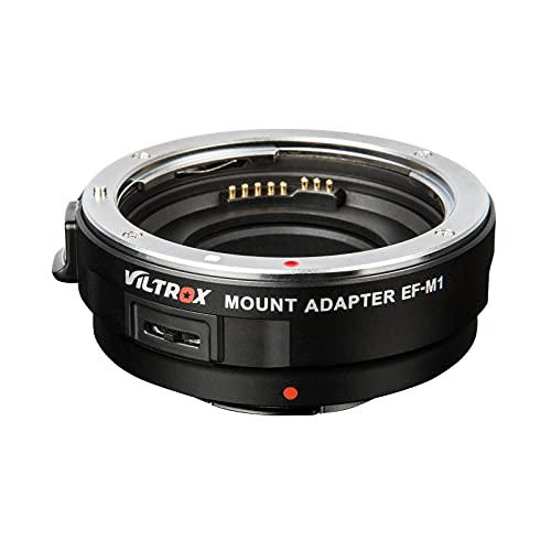 VILTROX EF-M1 Adaptador de Objetivo para Canon EF/EF-S a cámara Panasonic Olympus...