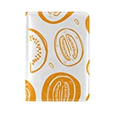 Passport Cover Case Cantaloupe Fruit Is Cool And Sweet Leather&microfiber Multi Purpose Print Passport Holder...