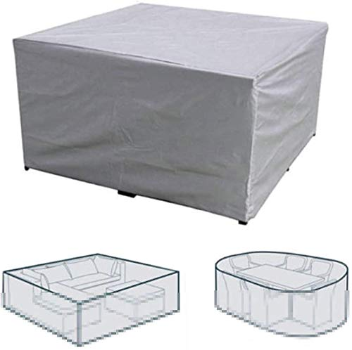 PJPPJH Garden Protective Cover,Furniture Cover Silver Outdoor Garden Waterproof Cover Courtyard Table and Chair Dust Cover Combination Table and Chair Cover (90 * 90 * 40 cm)