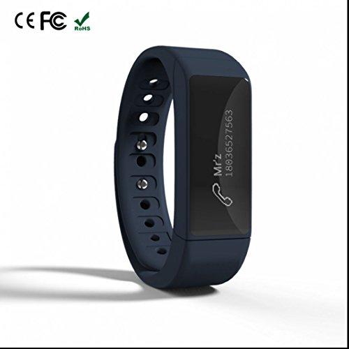 Bracelet Cardio Tracker d'Activité Smart Bracelet,Appareil photo à distance,Fitness Tracker,Fréquence Cardiaque Smart,dormir moniteur,Alarme sédentaire,avec écran tactile/Handsfree Call/anti-lost/rappel d'appel pour Android