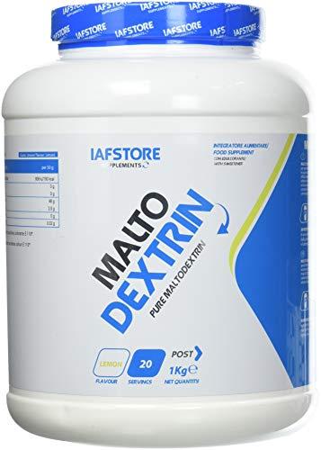 Malto Dextrin integratore alimentare di carboidrati (maltodestrine DE 19), in polvere da ricostituire a bevanda (Limone) 1000 grammi