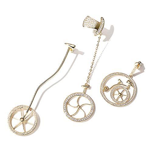 Bishilin Vergoldet Damen Ohrringe Nickelfrei Zirkonia Fahrrad Hochzeit Ohrringe Indisch Gold