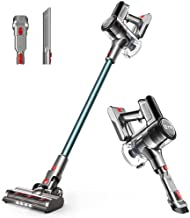 YTE Cordless Vacuum Cleaner, 6 in 1 Pet Hair Vacuum with 14KPa Suction, Up to 45 mins Runtime, Detachable Battery, Lightweight Handheld Vac with LED Headlights for Carpet Hard Floor Car Pet Hair