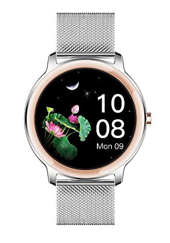 XYJ Kailangde SmartWatch Fitness Tracker Tasa del corazón Paso Contador Monitor de suspensión Connected GPS Notificaciones IP68 Impermeable para mujeres y hombres de hasta 30 días de batería c